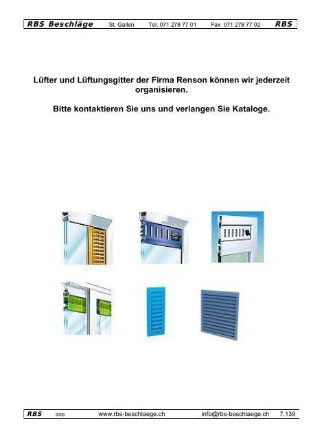 Lüfter - Rbs-beschlaege.ch