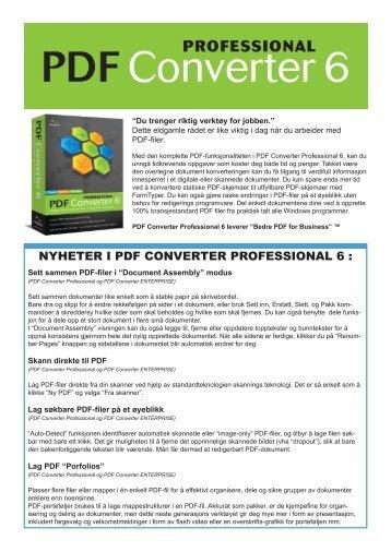 NYHETER I PDF CONVERTER PROFESSIONAL 6 :