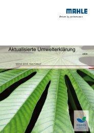 Aktualisierte Umwelterklärung - EMAS