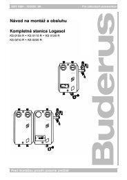 Návod na montáž a obsluhu Kompletná stanica Logasol - Buderus