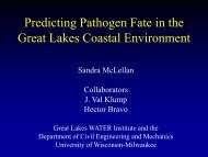 Predicting Pathogen Fate in the Great Lakes Coastal Environment