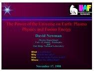 Plasma Physics and Fusion Energy - David Newman
