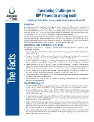 Fact Sheet on Youth and HIV/AIDS Prevention - EuroNGOs