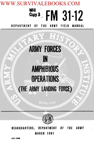 FM 31-12 Army Forces In Amphibious Operations - Survival Books