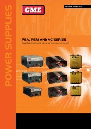 Power Supply Brochure - GME