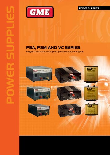 Power Supply Brochure - GME