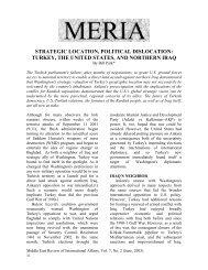 strategic location, political dislocation: turkey, the ... - GLORIA Center