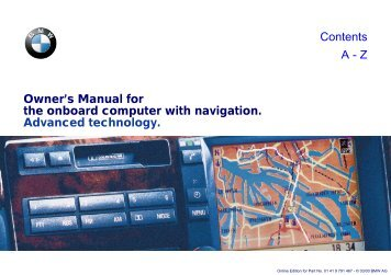 Owner's Manual for the onboard computer with navigation - Club E38