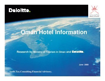 Omani Guests - Oman Ministry of Tourism