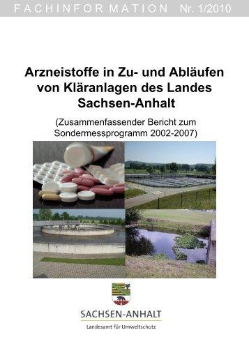 Arzneistoffe in Zu- und Abläufen von Kläranlagen des Landes ...