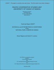 TO DO: - University of Hawaii at Manoa Botany Department