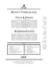 FLYING BUFFET – GABELBISSEN - Fissler Post Services