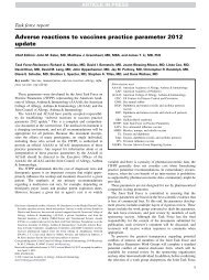 Adverse reactions to vaccines practice parameter 2012 ... - AInotes