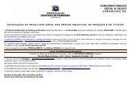 Resultado Geral das provas objetivas - Instituto Mais