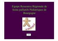 Equipe ressource régionale en soins palliatifs ... - ARS Bourgogne