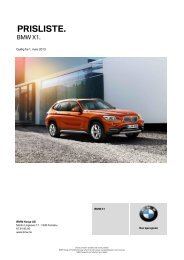 Last ned. Gyldig prisliste for BMW X1 (PDF, 442k).