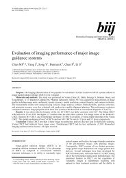 Evaluation of imaging performance of major image guidance systems