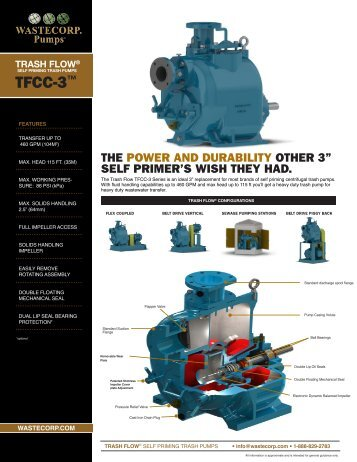 TFCC-3 Specs - Wastecorp Pumps