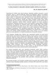 İl Özel İdaresi ve Belediye Hizmetlerine Gönüllü Katılım - Çanakkale ...
