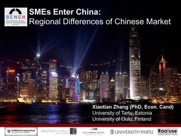 Regional Differences of Chinese Market