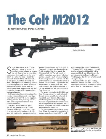 M2012 Australian Shooter February 2013 - Frontier Arms