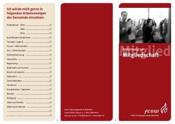Mitgliedschaft-Anmeldung - FCGW