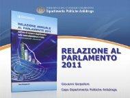 Slideshow Relazione 2011 - Dipartimento per le politiche antidroga