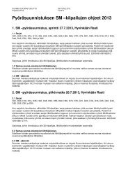 Pyöräsuunnistuksen SM –kilpailujen ohjeet 2013 - Suomen ...