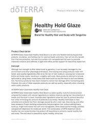 Salon Essentials Healthy Hold Glaze - dōTERRA - Essential Oils