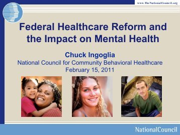 Federal Healthcare Reform and the Impact on Mental Health