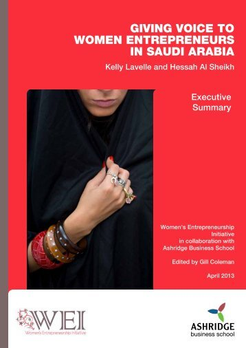 women entrepreneurs in Saudi Arabia Report Executive Summary