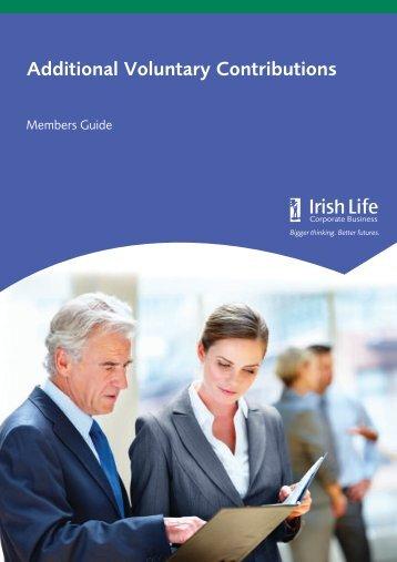 Additional Voluntary Contributions Members Guide - Irish Life