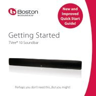 Getting Started - Boston Acoustics