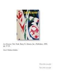 Lee Krasner - Robert Hobbs