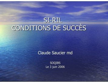 Dr Claude Saucier - SoQibs