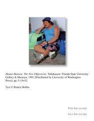 Duane Hanson: The New Objectivity. Tallahassee - Robert Hobbs