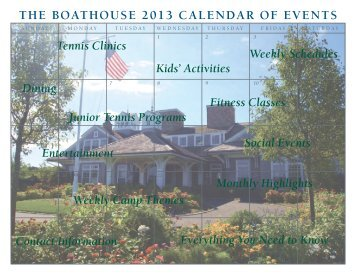 PDF of 2013 Event Calendar - The Boathouse