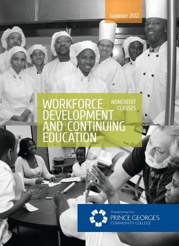 workforce development and continuing education - Prince George's ...