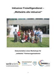 Dokumentation des Workshops in (pdf, 3,1 mb) - bezev eV