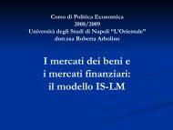 Modello is lm - Università degli studi di Napoli L'Orientale