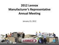 Download materials from the 2012 annual meeting - Lennox ...