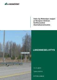 LIIKENNESELVITYS - Riihimäki