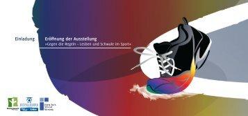 Einladung Eröffnung der Ausstellung - Fussball Kultur