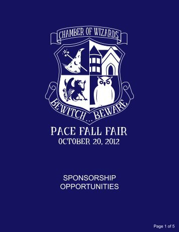 2012 Sponsorship Opportunities F2 - Pace Academy