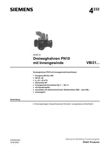 4232 Dreiweghahnen PN10 mit Innengewinde VBI31...