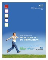 Adult Survivorship: from concept to innovation - NHS Improvement