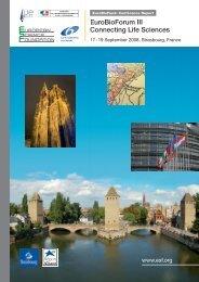 EuroBioForum III Connecting Life Sciences - European Science ...