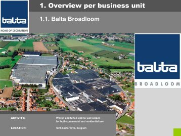 TAKING THE FLOOR - Balta Group