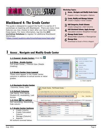 Grade Center | Blackboard at KU