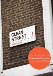 Local Environmental Quality Survey of England ... - Keep Britain Tidy
